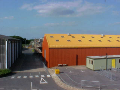 UKAEA asbestos building after cleaning and coating