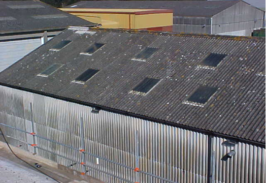 UKAEA asbestos building before cleaning