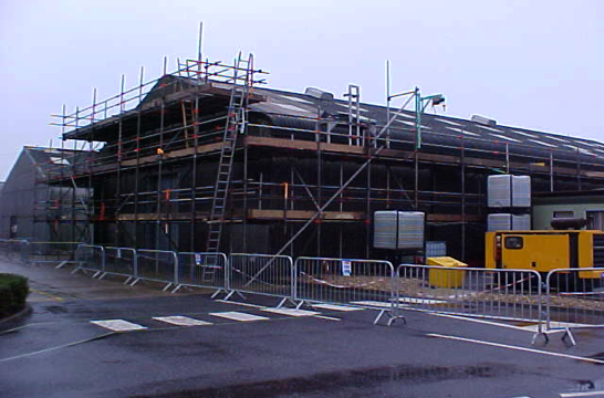 UKAEA asbestos building during cleaning